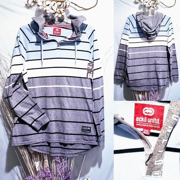 Ecko Unlimited Other - Ecko Unltd Striped hoodie size 2XL🆕🦅